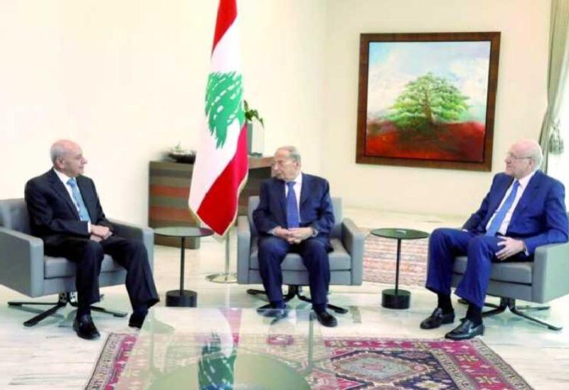 Michel Aoun, Nabih Berri et Najib Mikati