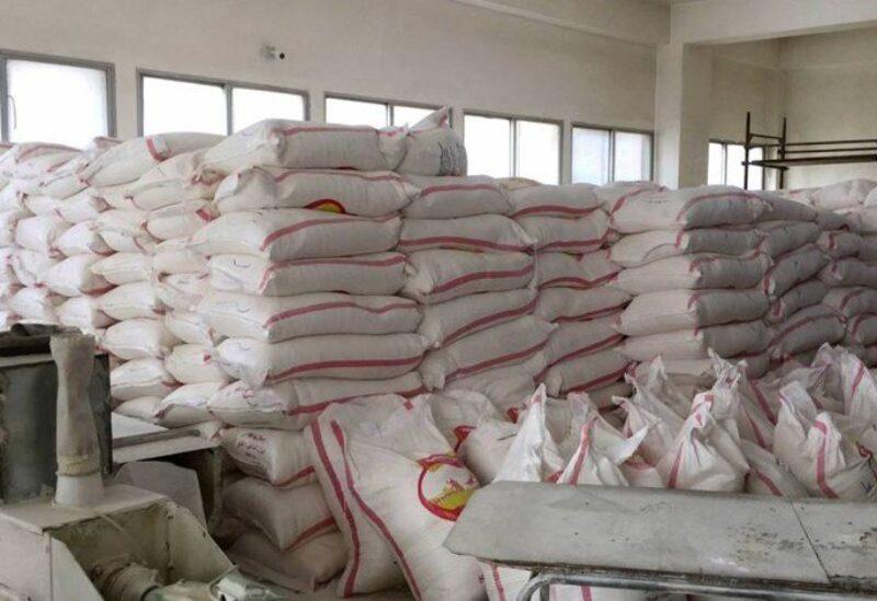 Un entrepôt de stockage de farine