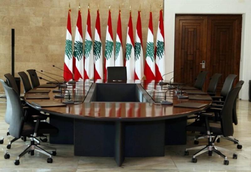 La table de dialogue au Palais de Baabda