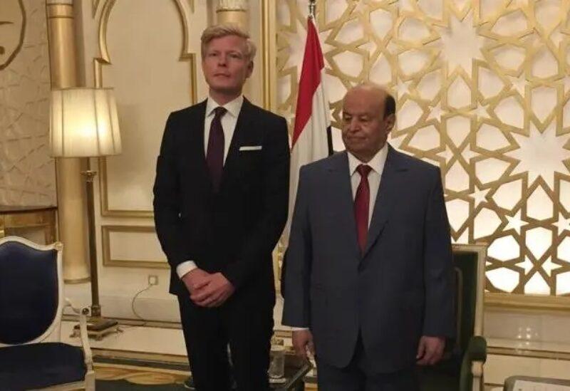 L'envoyé de l'ONU au Yémen, Hans Grundberg, et le président yéménite