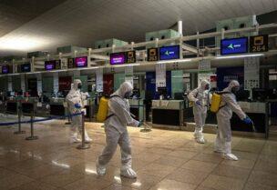 La stérilisation d'un aéroport en Grande-Bretagne
