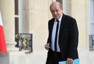 ministre des affaires étrangères Jean-Yves Le Drian