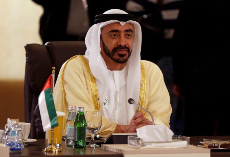 Le ministre des Affaires étrangères des EAU, Abdullah bin Zayed Al Nahyan