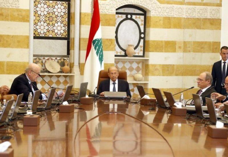 La séance du Conseil des ministres à Baabda