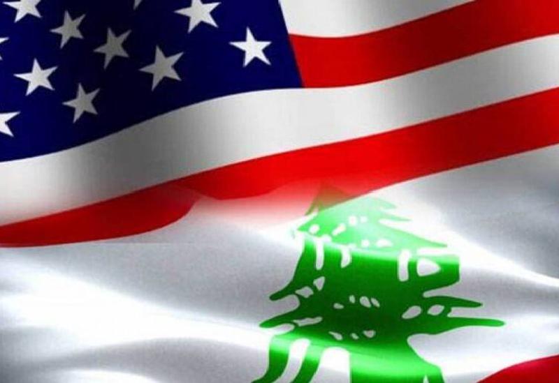 Les deux drapeaux du Liban et de l'Amérique