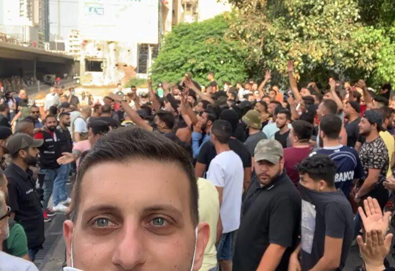 Photo d'une protestation au Khandak El Ghamik - Archives