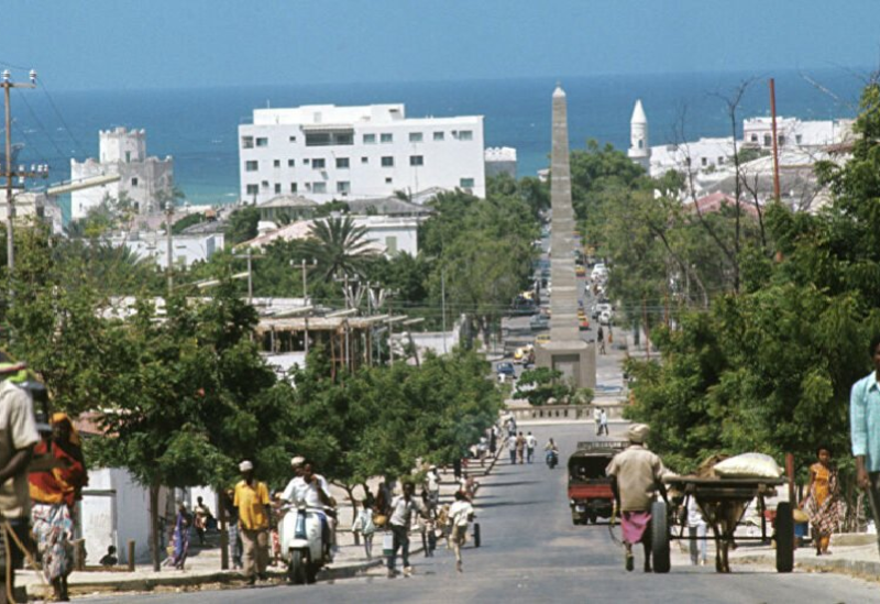 Une vue générale de la capitale somalienne